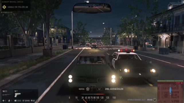 Die Polizei ist in Mafia 3 äußerst gefährlich, hier haben gleich mehrere Streifenwagen Lincoln eingeholt.