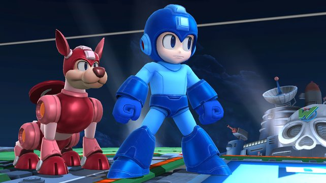 Mega Man bekommt bei den Smash Bros. Asyl gewährt. Willkommen, blauer Bomber!