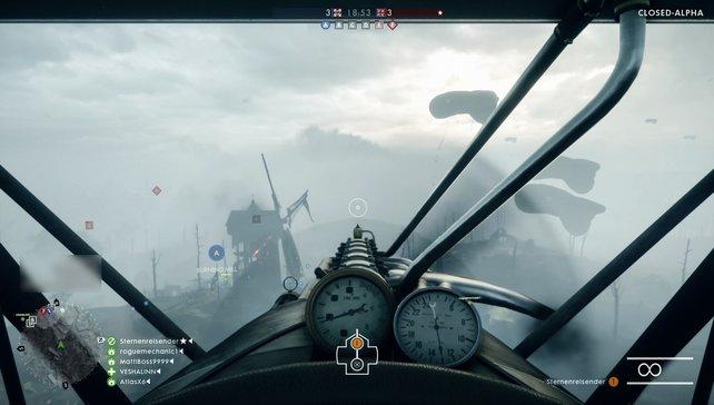 Angriffsanflüge im Jäger erfordern Übung, vor allem bei dichtem Nebel.