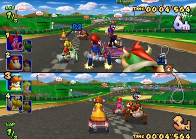 Internetfähige Spiele gibt es für den Gamecube zwar so gut wie gar nicht. Mithilfe des Breitbandadapters dürft ihr zum Beispiel in Mario Kart - Double Dash!! aber zumindest LAN-Verbindungen nutzen.