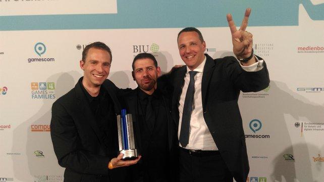 Sieger des Abends (von links): Deck13 Geschäftsführer Jan Klose mit Marco Süß und Dr. Florian Stadlbauer.