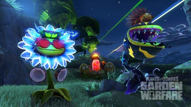 Sonnenblumen die nachts vor lauter Elektrizität leuchten? Willkommen in Garden Warfare.
