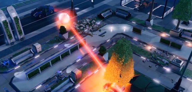 Der Fire-Beam in Action: Lauft weg wenn die Kugel anfängt zu leuchten!