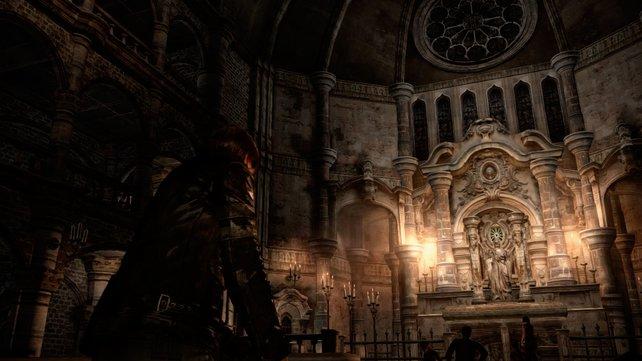 Leon erkundet auch Kirchen und Friedhöfe.