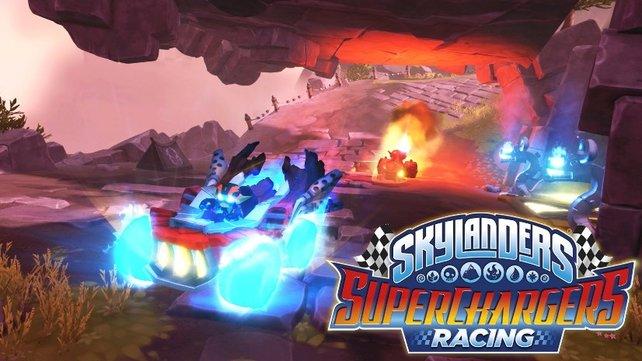 Auch die Racing-Version des Spiels erzählt - zumindest der Form halber - eine kleine Geschichte.