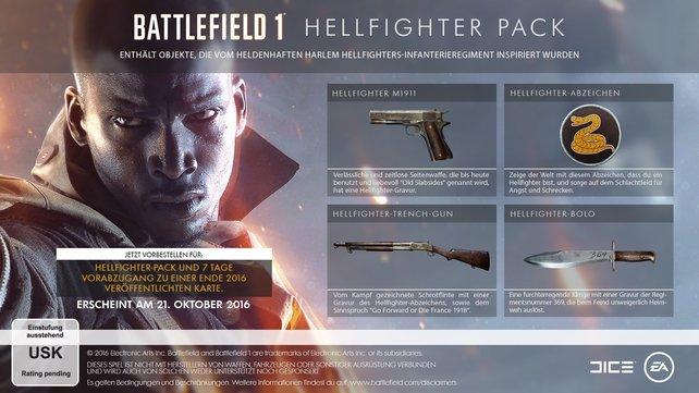 Das Hellfighter-Pack steht allen Vorbestellern als Bonus zur Verfügung.