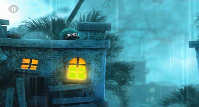 Während der Regen vom Himmel prasselt, könnt ihr die Dächer einer Piratenstadt unsicher machen.