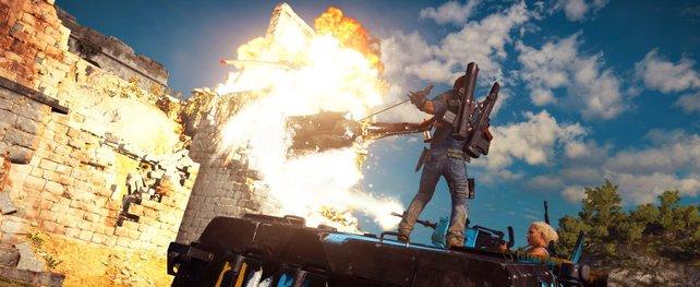 Ach, Rico. Nur Explosionen besänftigen dich.
