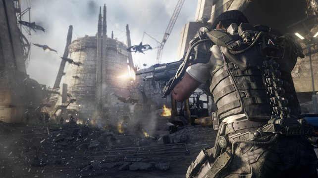 CoD - Advanced Warfare bietet moderne Soldaten mit Exo-Skelett.