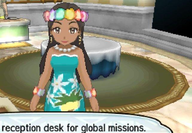 Dame im türkisfarbenen Kleid verkauft euch Festival-Tickets für Missionen.