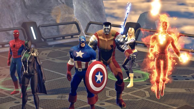 Hier kämpfen ein paar der größten Superhelden Seite an Seite.