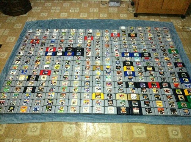 Sieht viel aus - aber mit 388 offiziell erschienenen Titeln steht es regelrecht ärmlich ums N64.