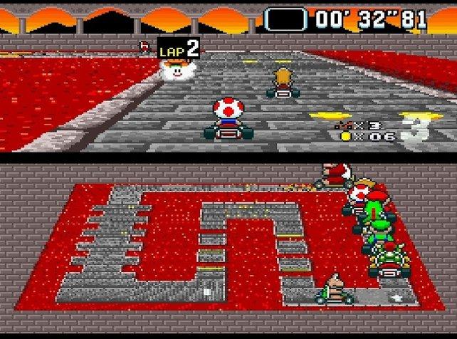 """Natürlich ist Super Mario Kart in erster Linie für zwei Leute gedacht. Die Fachpresse nennt aber selbst den Einzelspielermodus """"unglaublich""""."""