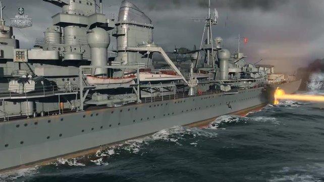 Die Schiffe in World of Warships wurden mithilfe von Blaupausen detalliert nachgebaut.