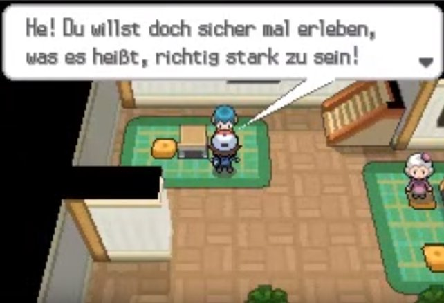 Pokémon Schwarz und Weiss: Dieser nette Junge überreicht euch VM04 Stärke.