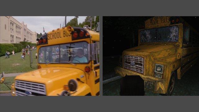 Der gelbe Schulbus wurde ebenfalls kopiert.