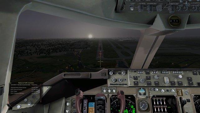 Im nebligen Morgengrauen setzt ihr punktgenau zur Landung an.