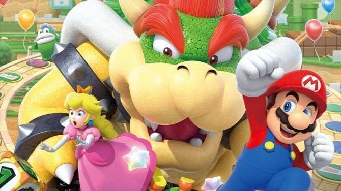 Bowser in seinem Element! Aber was soll dieser Seitenblick, Mario? Sieht ja fast aus, als wär es dir ganz recht, dass Peach über die Klauen ihres Peinigers stolpert. Sowas!