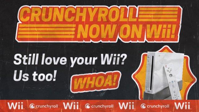 Erst vor einem Jahr hat die Wii ihren bislang letzten Kanal spendiert bekommen: Die auf japanische Kultur spezialisierte Online-Community Crunchyroll bewirbt die Wii dadurch noch 2015.