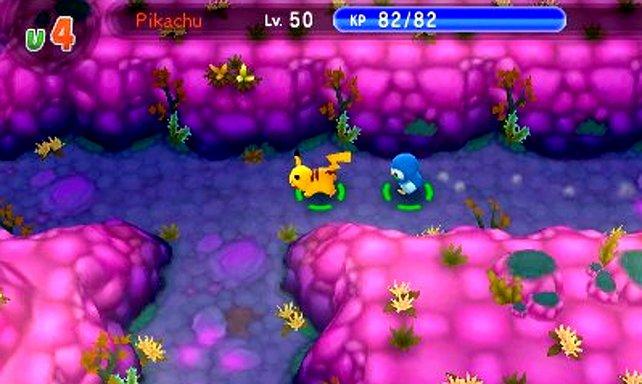 Pokémon Super Mystery Dungeon: Pikachu und Plinfa auf der Suche nach Wunderbriefen.
