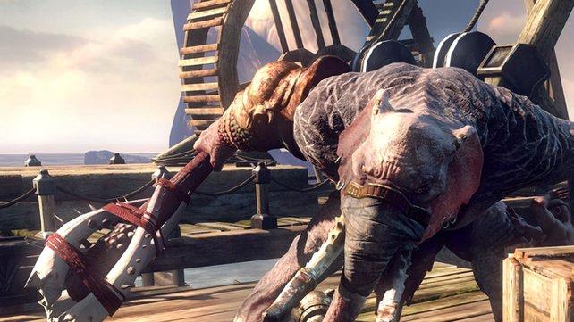 Auch der Axt-Elefant hat es auf Kratos abgesehen.