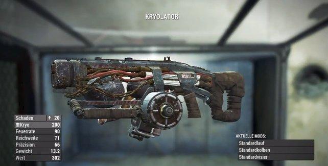Der Kryolator lässt Feinde für kurze Zeit gefrieren.