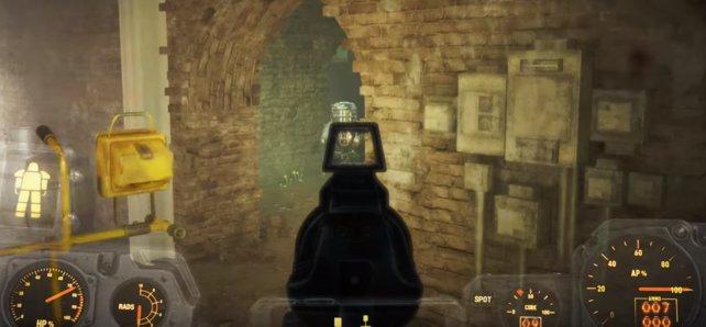 Der Tunnel ist schwer gesichert