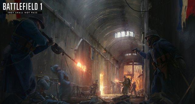 """Der DLC """"They Shall Not Pass"""" zu Battlefield 1 liefert euch das erste Waffen-Paket mit neuen Gewehren."""