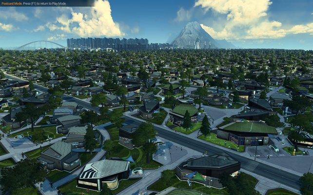 Häuser, so weit das Auge reicht. Die Städte in Anno 2205 können gigantisch werden.