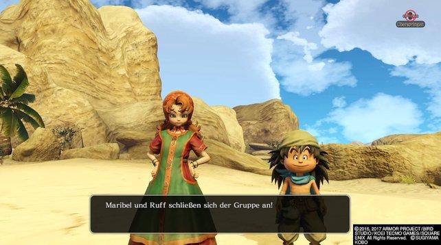 Beinahe unzertrennlich: Maribel und Ruff in Dragon Quest Heroes 2.