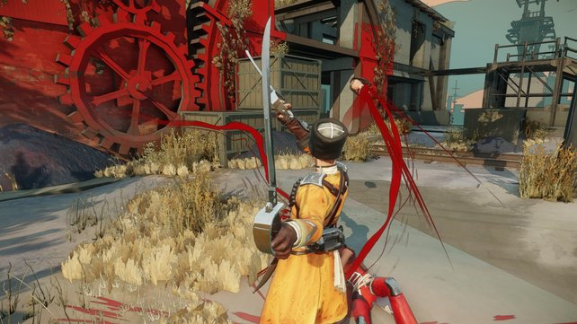 In hohem Bogen fliegt der Kopf des besiegten Gegners durch die Luft. Die präzise Steuerung macht's möglich.
