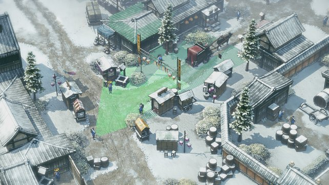 """Ein verschneites Dorf, das unweigerlich Gefühle an """"Commandos - Hinter feindlichen Linien"""" auslöst."""