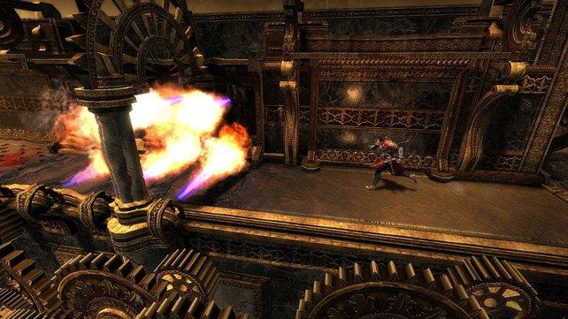 Auch einige 2D-Passagen bietet das Spiel.