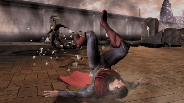 Selbst Superman kann gegen einen gegnerischen Superangriff nichts ausrichten.