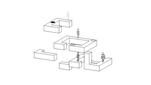 In diesem Spielmodi müssen die beiden Figuren zusammengeführt werden.