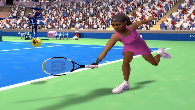 Serena hat eine starke Vorhand.
