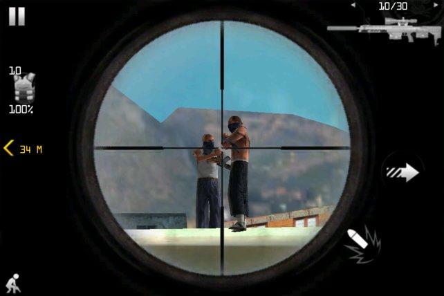 Auch mit dem Scharfschützengewehr macht ihr euch auf die Pirsch.