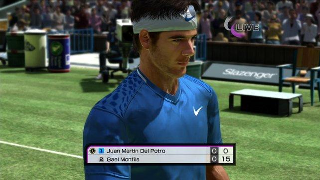 Die virtuellen Tennis-Asse wie Juan Martin Del Potro wirken nun lebensechter.