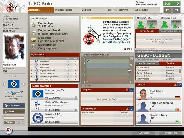 Die Zentrale des Fußball Manager 06