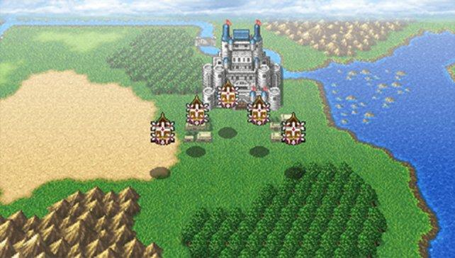 In Final Fantasy 4 konntet ihr mit den Flugschiffen sogar den Mond erkunden!