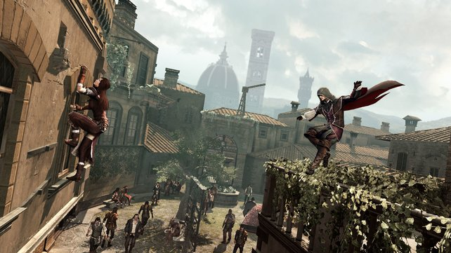 Typisch für Assassin's Creed: Über luftige Höhen gelangt ihr zum Zielort oder euren Opfern.