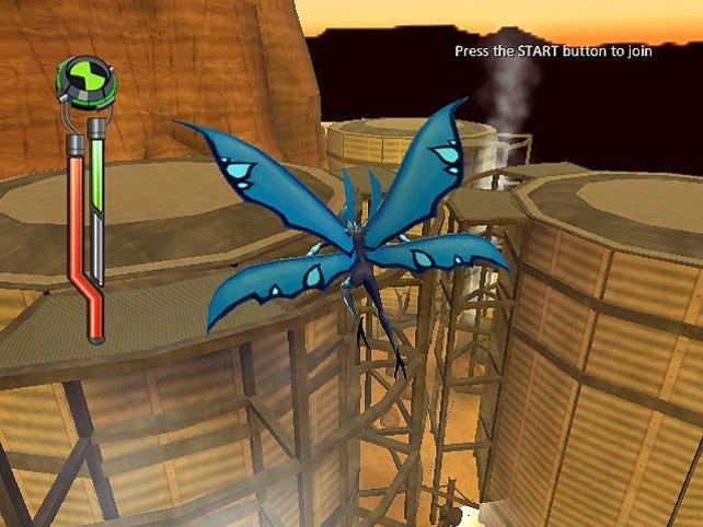Wir nutzen einen Luftstrom aus, um den Höhenunterschied zu überwinden.