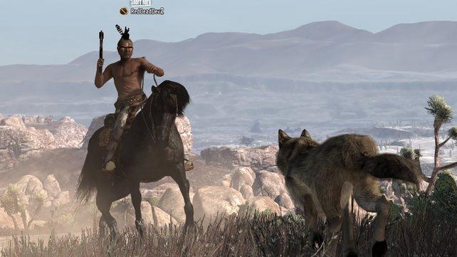 Die neue Waffe im Spiel: das Tomahawk der Indianer.