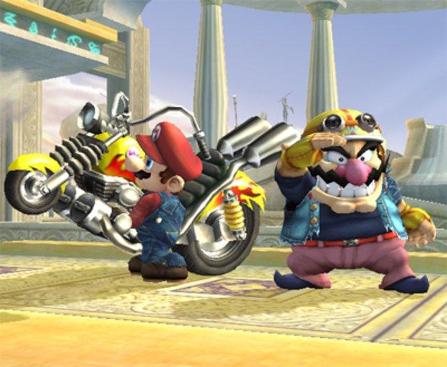 Der Konflikt zwischen Mario und Wario entlädt sich in Super Smash Bros. Brawl.