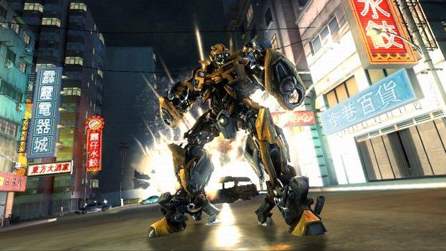 Autobot Bumblebee ist natürlich auch im Spiel dabei