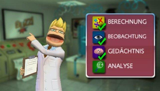 Vier Kategorien mit je vier Minispielen bietet Sonys Antwort auf Dr. Kawashima.