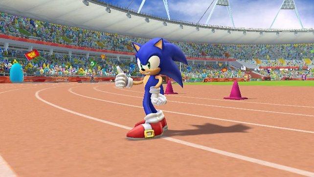 Sonic auf der Rennbahn.