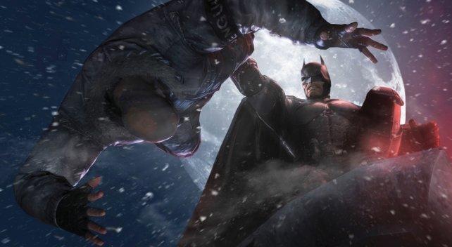 Sieht aus, als würde Batman ein Geständnis erzwingen wollen.