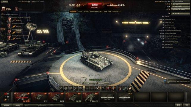 Schnell und hinterlistig. Die SU-85b ist ein schneller, gut getarnter Panzerjäger.