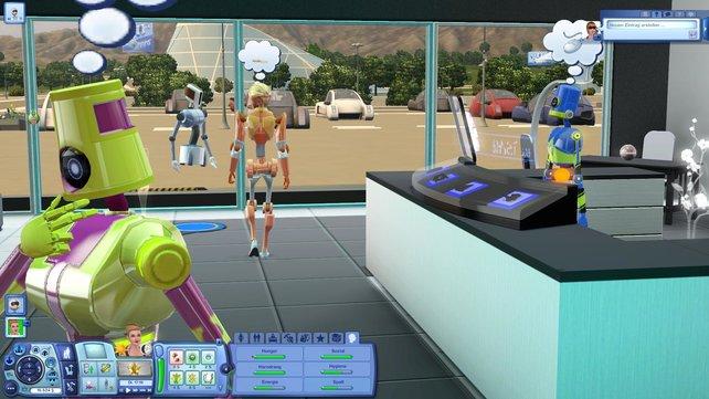 Roboter könnt ihr in einem Laden kaufen und selbst gestalten.